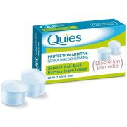 Quies Silicone Protection Ear Plugs - Discreet 20 dB - 3 Pairs