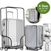 """Transparent Suitcase Travel Cover - PVC Luggage Protector - 20/22/24/26/28"""" Bag"""