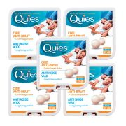 Quies Pure Natural Wax Ear Plugs Protection 8 pairs noise reduction x5 Pack