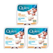 Quies Pure Natural Wax Ear Plugs Protection 8 pairs noise reduction - x3 Pack
