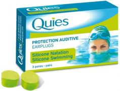 Quies Protection Silicone Ear Plugs for Swimmers (3 Pairs)