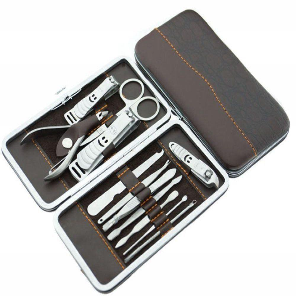 12 Piece Stainless Steel Manicure Pedicure, Cuticle Cutter Nail Clipper Gift set