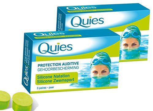 Quies Silicone Natation Swimming Earplugs - Adult - 2 Pack