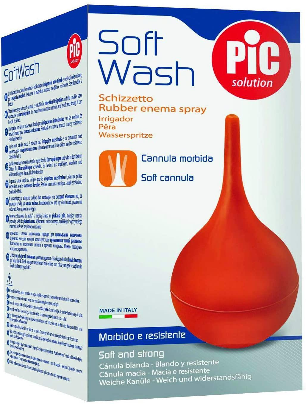 Pic Solution Soft Wash - Rubber enema spray with soft cannula - 260ml