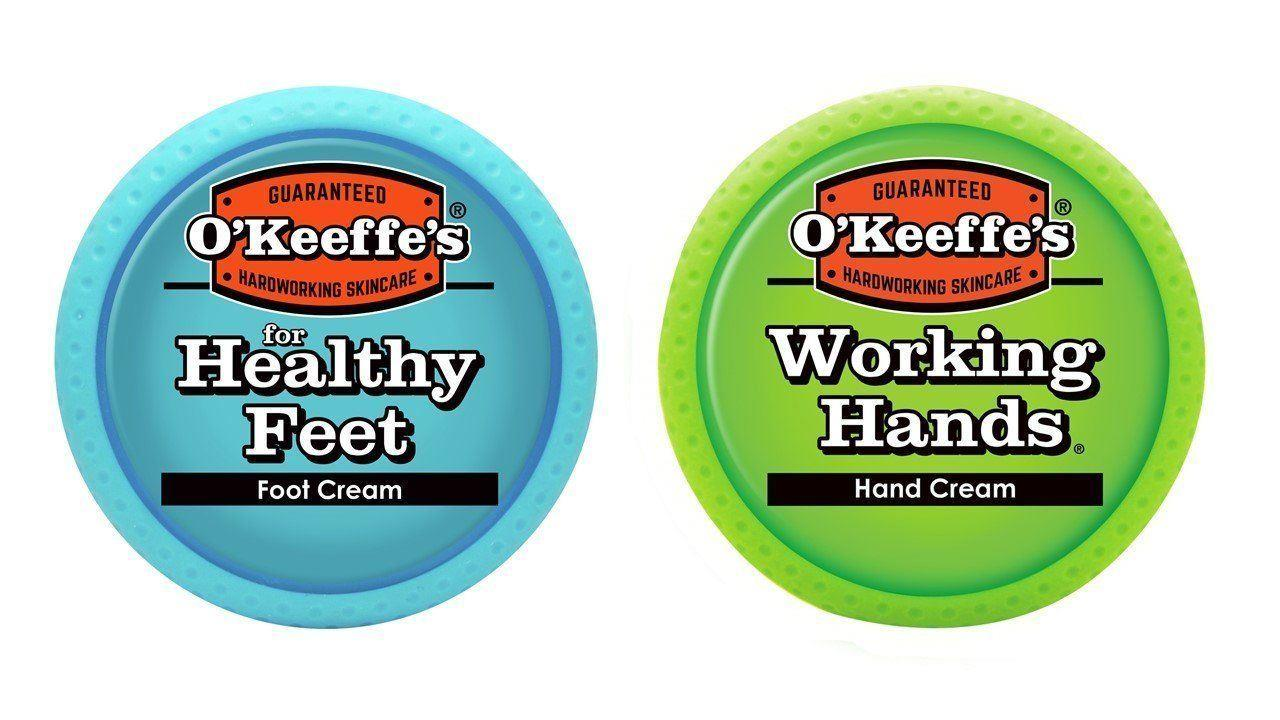 O'Keeffe's Working Hands & Healthy Feet: Hand & Foot Cream Jar Set - Twin Pack